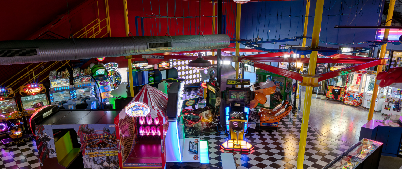 arcade games at the Gulf Bowl